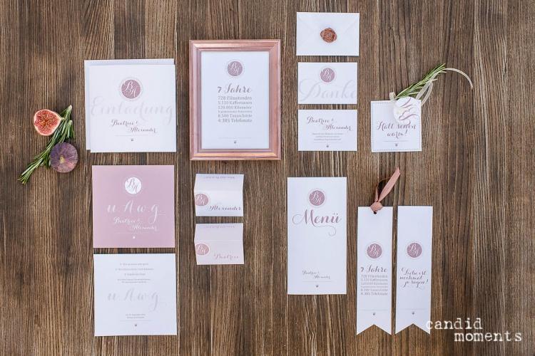 Hochzeitspapeterie Kupfer